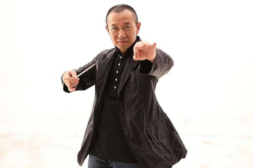 Tomorrow's concert will be the fourth time composer Tan Dun (above) conducts the Singapore Symphony Orchestra.