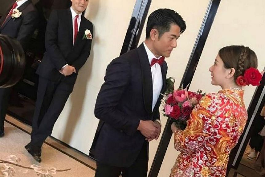 Hong Kong actor Aaron Kwok, 51, ended days of speculation over his wedding plans when he threw a lavish wedding banquet at the swanky Peninsula Hong Kong last night with his Chinese model girlfriend Moka Fang.