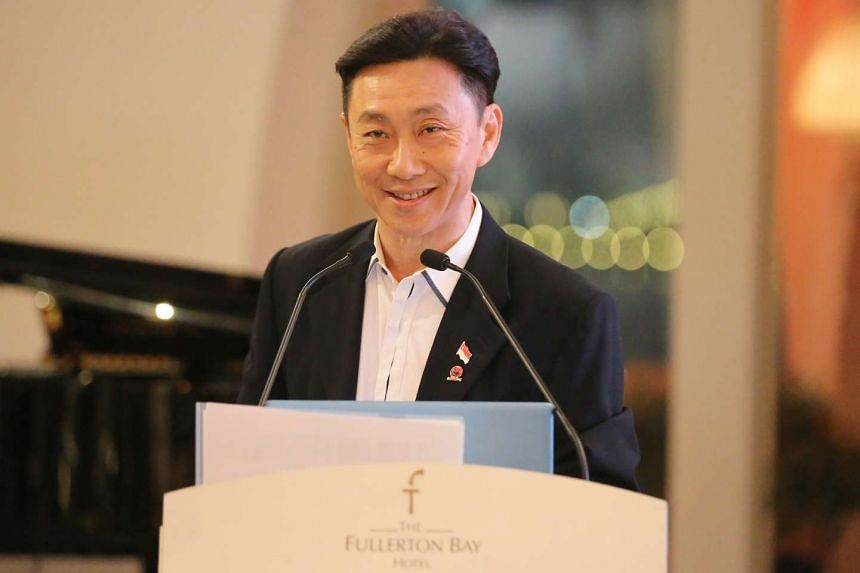 Hougang United chairman Bill Ng at the Game Changers team's press conference held at the Fullerton Bay Hotel on April 13, 2017.