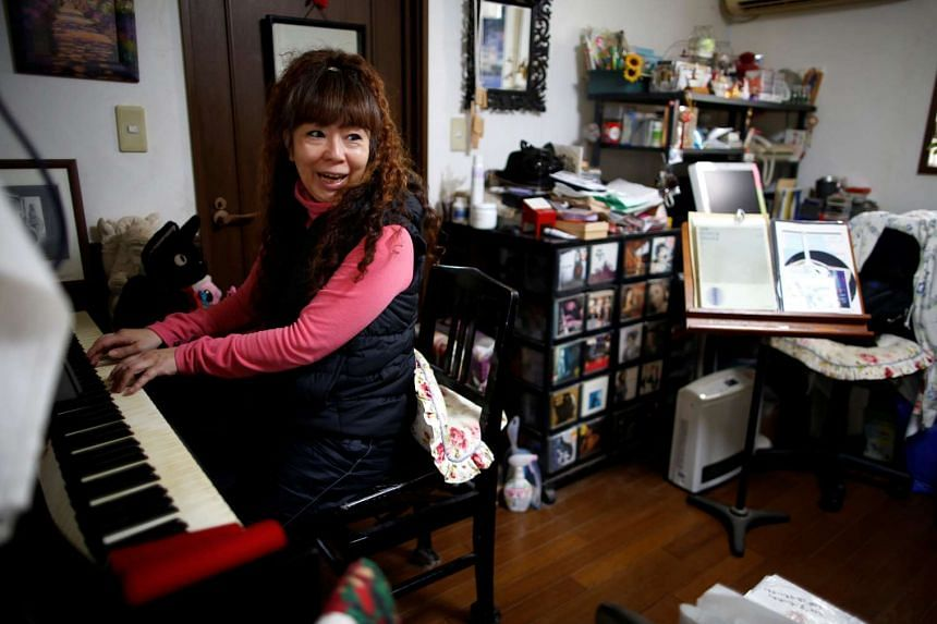 Hiromi Tanaka relies on income from giving private singing lessons to a dwindling number of students, and her mother's pension to make ends meet.
