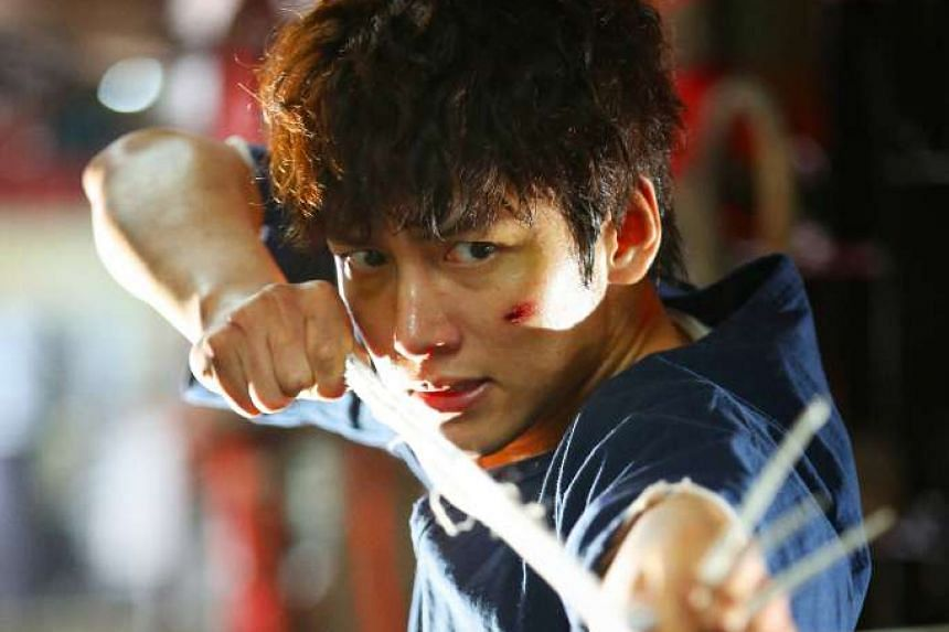 Ji Chang Wook shows off his fighting skills as the hero in Fabricated City.