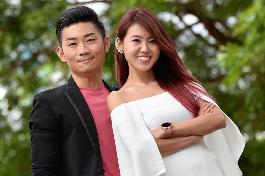 The couple had been trying to start a family for about a year when she discovered the good news on the first day of Chinese New Year.