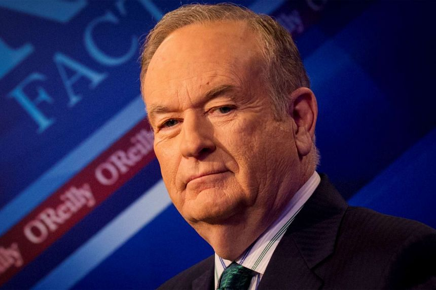 O'Reilly poses on the set of his show The O'Reilly Factor in 2015.