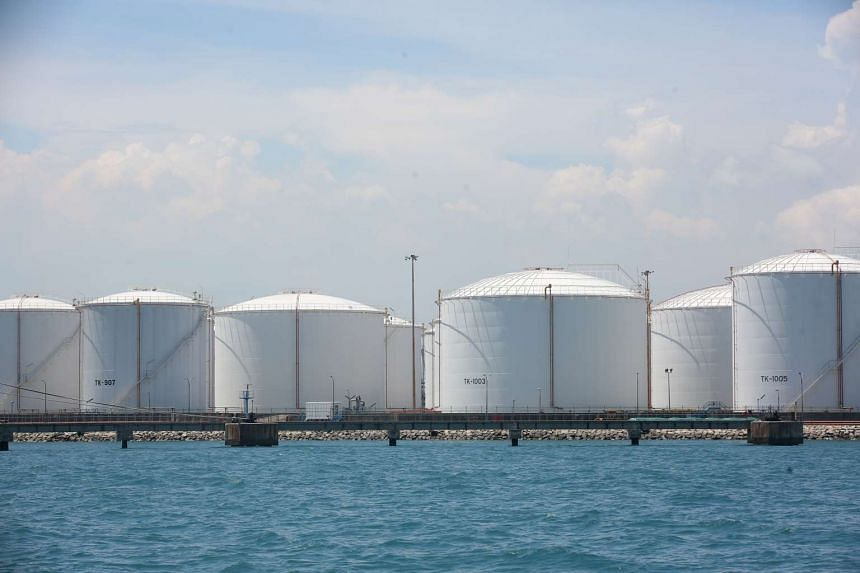 File photo of Pulau Sebarok, an oil storage and refueling port.