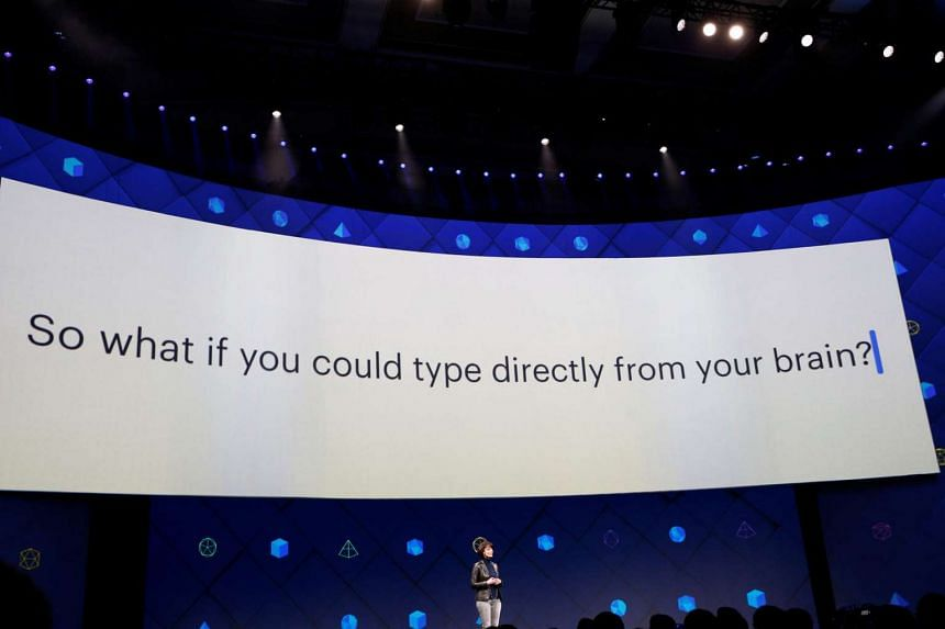 Regina Dugan, vice president of engineering of Building 8 at Facebook, speaks at the annual Facebook F8 developers conference in California on April 19, 2017.