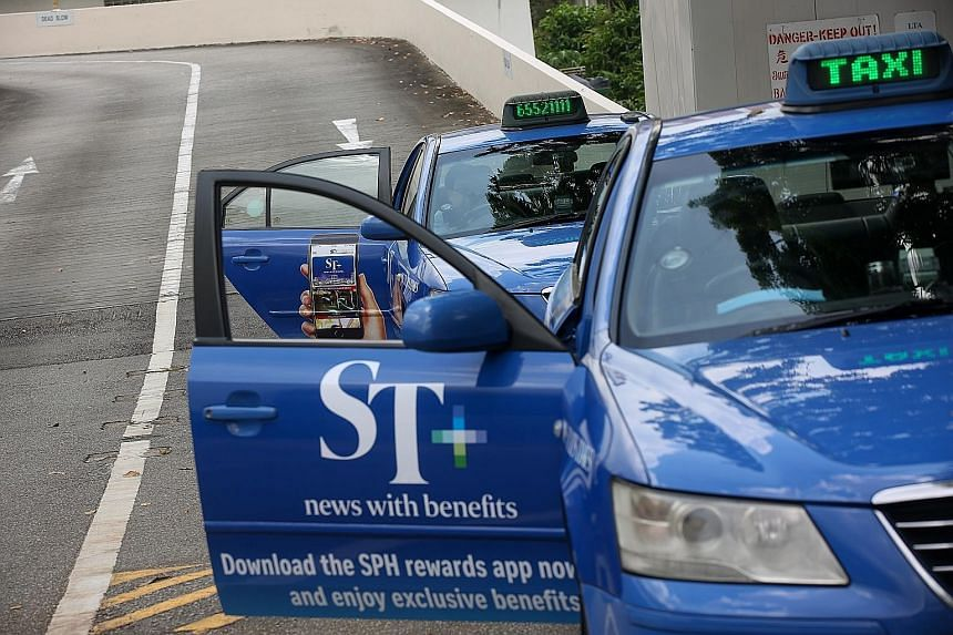 A fleet of 100 Comfort taxis promoting the ST+ exclusive rewards campaign was rolled out yesterday. ST Rewards joins apps like ST Wine and ST Food Club, all designed to reward loyal subscribers of The Straits Times with that something extra. The app