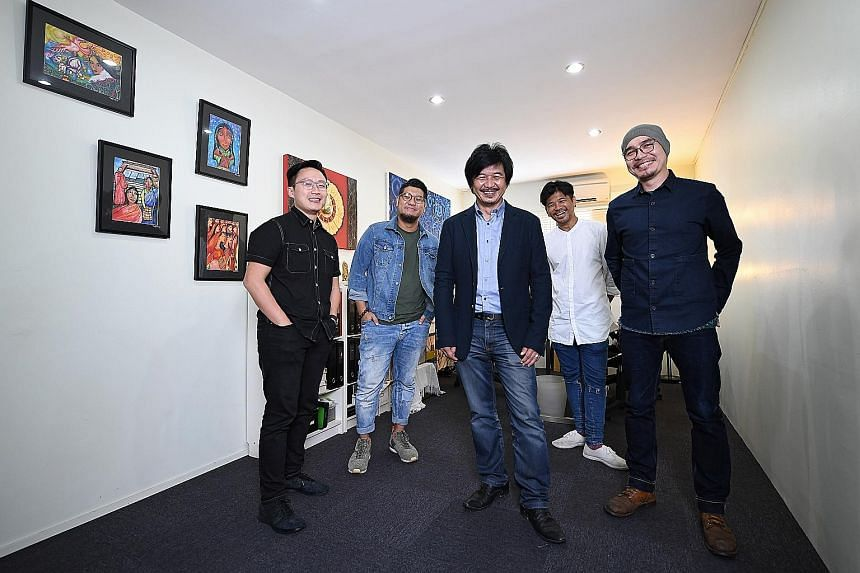 (From left) The Magical Light Foundation's creative director Ang Sheng Jin, art director Andrew Ho, founder Ben Cheong, photographer Alvin Tan and videographer Gin Khoo. The non-profit foundation is hoping to raise funds through a campaign that will