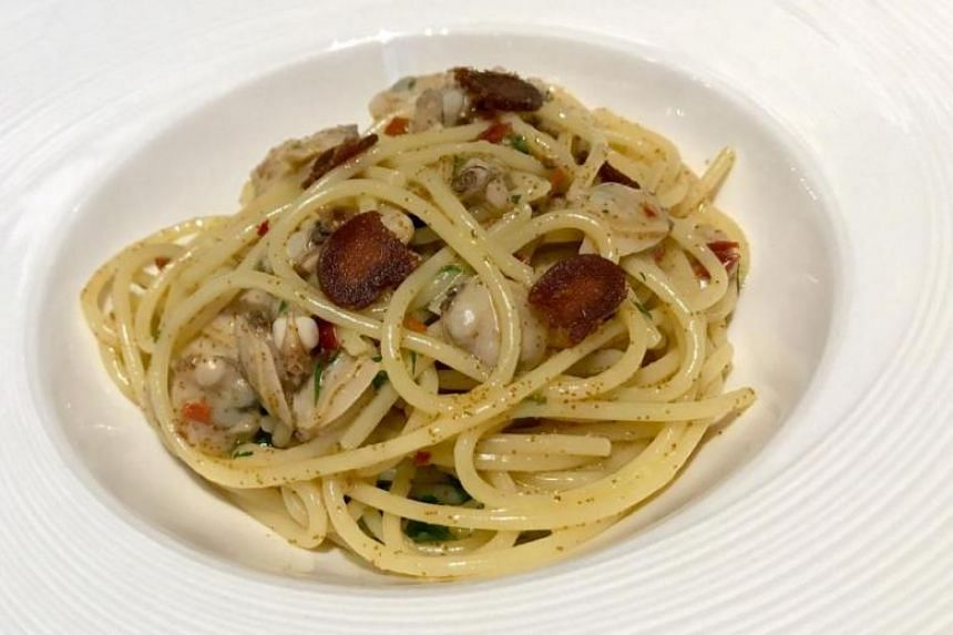The  Spaghetti with Clams & Bottarga is divine. PHOTO: YEOH WEE TECK