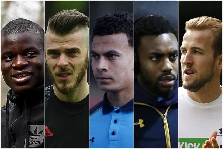 Chelsea midfielder N'Golo Kante, Manchester United goalkeeper David De Gea, and Tottenham trio midfielder Dele Alli, left-back Danny Rose and striker Harry Kane all make the team for the second consecutive season.