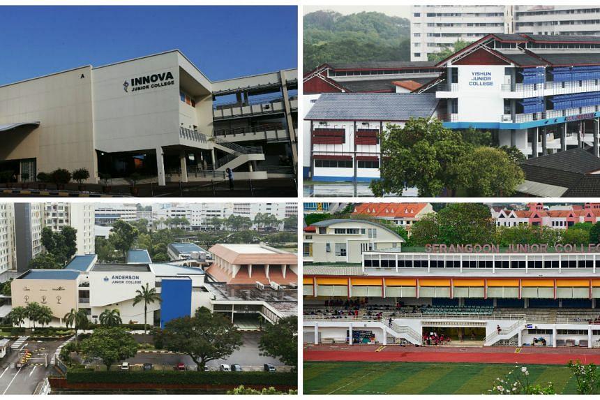 Innova Junior College will merge with Yishun College, and Anderson Junior College will take in Serangoon Junior College.