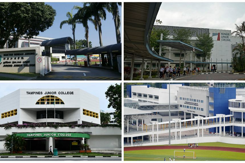 Jurong Junior College will merge with Pioneer Junior College, and Tampines Junior College will merge with Meridian Junior College.