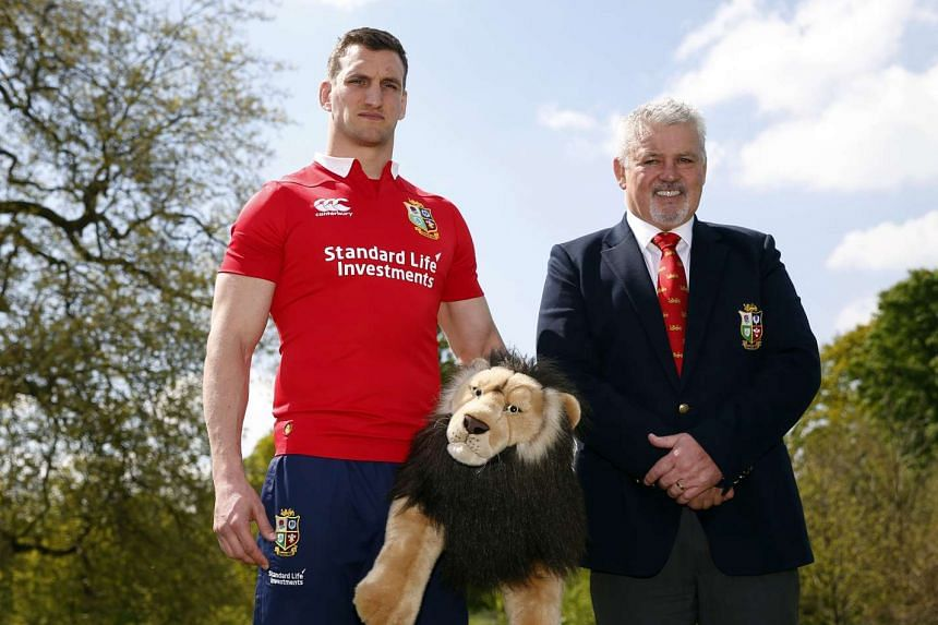 British & Irish Lions captain Sam Warburton (left) and head coach Warren Gatland.