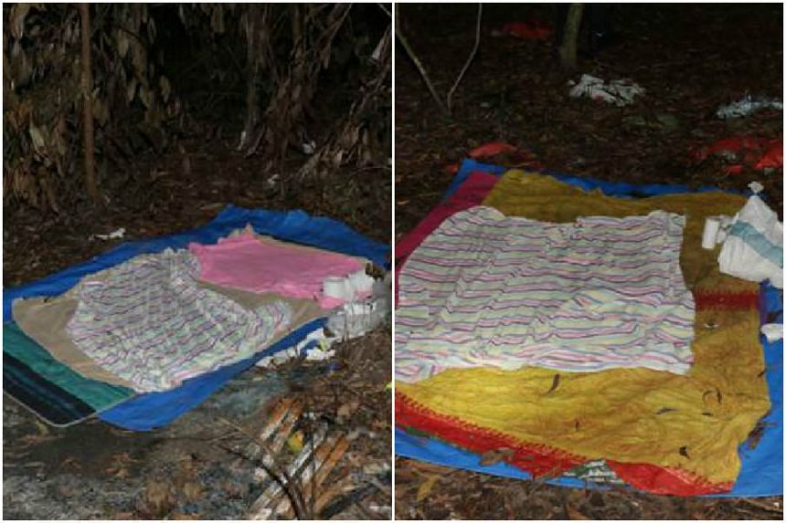 Officers from the Central Narcotics Bureau and the Bedok Division raided the forested areas along Kaki Bukit at 7pm on April 19, 2017.