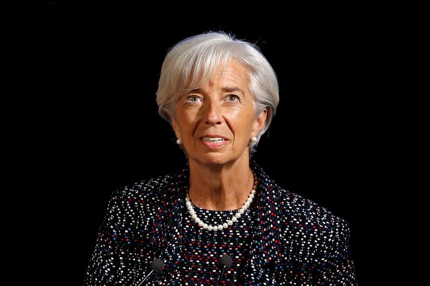 Lagarde (above) acknowledged discontent over globalisation and the political winds it has whipped up in recent years.
