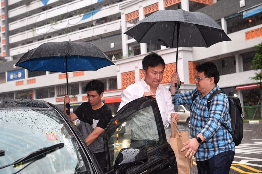 City Harvest Church founder Kong Hee arriving at the State Courts on Friday (April 21).