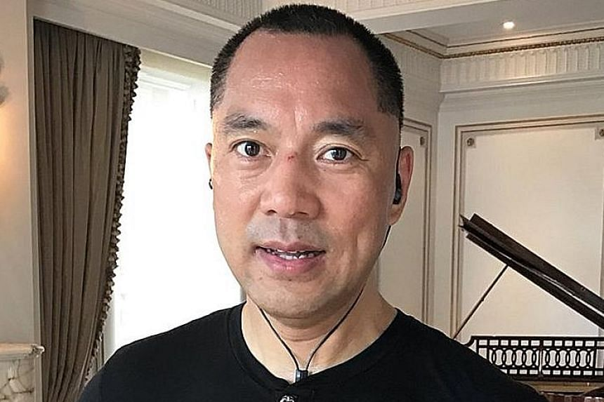 """Guo Wengui claimed he was the target of a political witch hunt after he had threatened to expose """"explosive information"""" about corruption at the top of Chinese politics."""