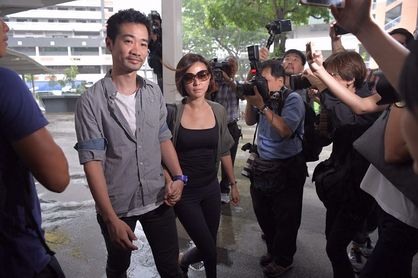 Serina Wee and her husband Kenny Low arriving at the court.