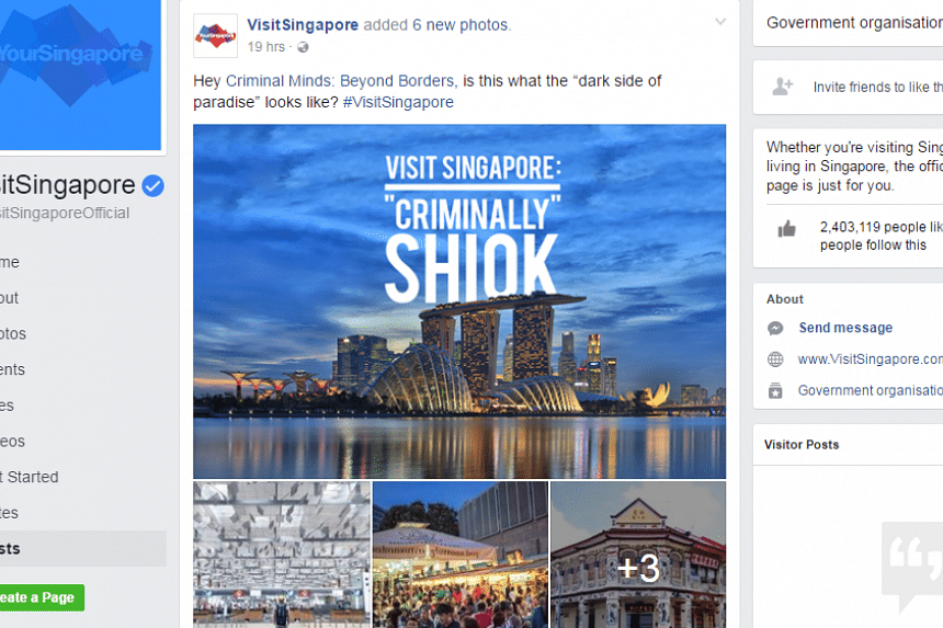 The Singapore Tourism Board has countered the controversial portrayal of Singapore in Criminal Minds: Beyond Borders with photos of its own.