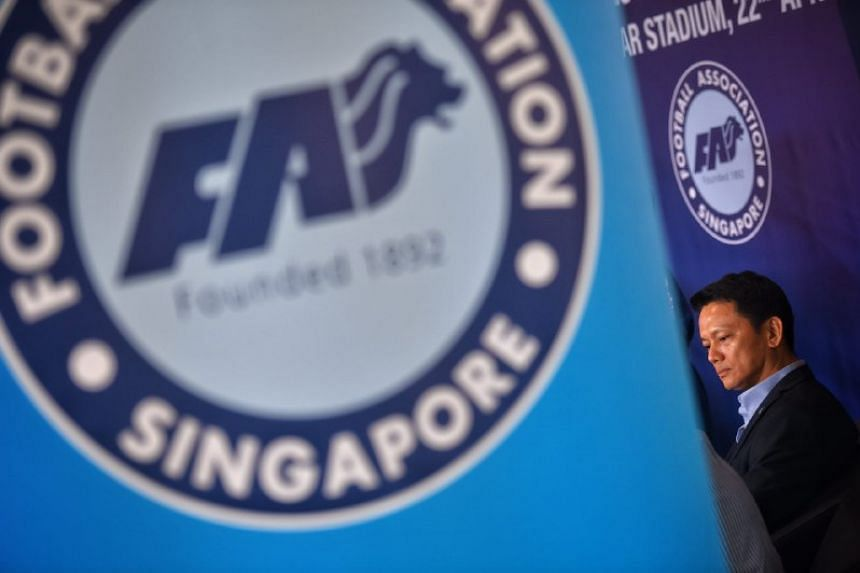 FAS general secretary Winston Lee made his first public appearance since the FAS saga broke out. He was at the unveiling of the new National Football League logo and sponsors' press conference on Saturday (April 22).