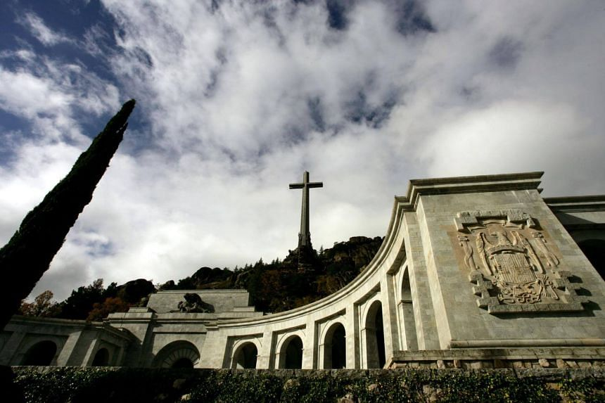 The basilica of the Valle de los Caidos (The Valley of the Fallen), a monument to the Francoist combatants who died during the Spanish civil war, is also Franco's final resting place just outside Madrid.