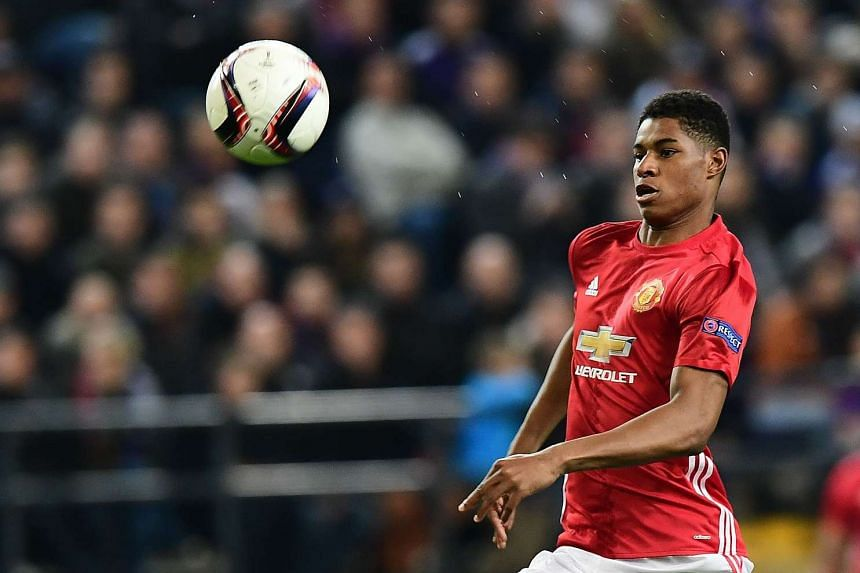 Faced with a growing injury list, Mourinho says he doesn't want to see Rashford (above) playing at age-group level.
