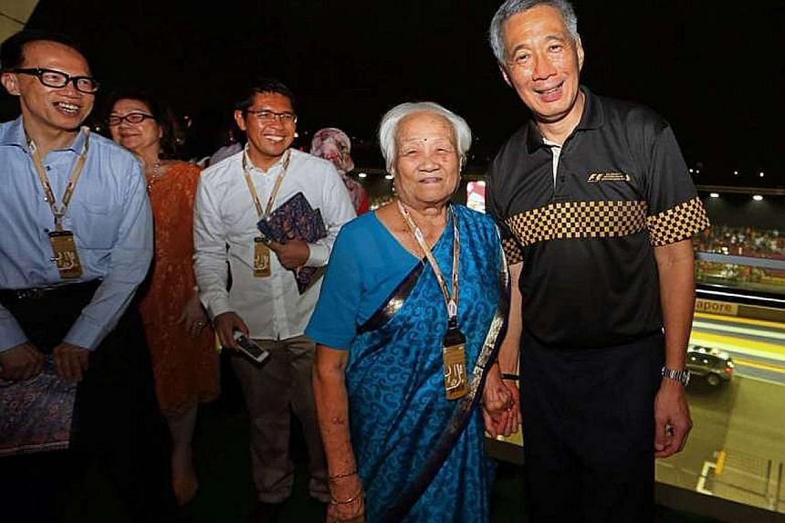 Prime Minister Lee Hsien Loong fondly recalled meeting Madam Indranee Elizabeth Nadisen at the 2014 Singapore Grand Prix.