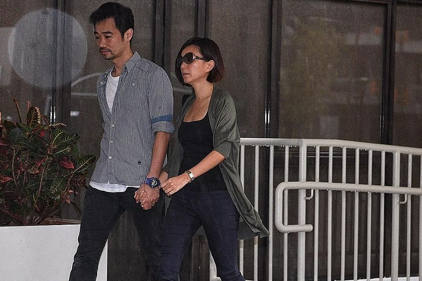 Former finance manager Serina Wee - seen here with her husband Kenny Low - will serve a 2½-year jail term. Former church finance committee member John Lam (left) will serve a 1½-year term while deputy senior pastor Tan Ye Peng got three years and t