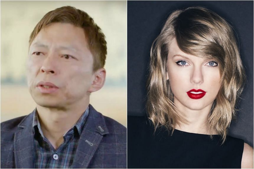 Charles Zhang Chaoyang, 52, (left) has denied speculation that he is dating American pop princess Taylor Swift.