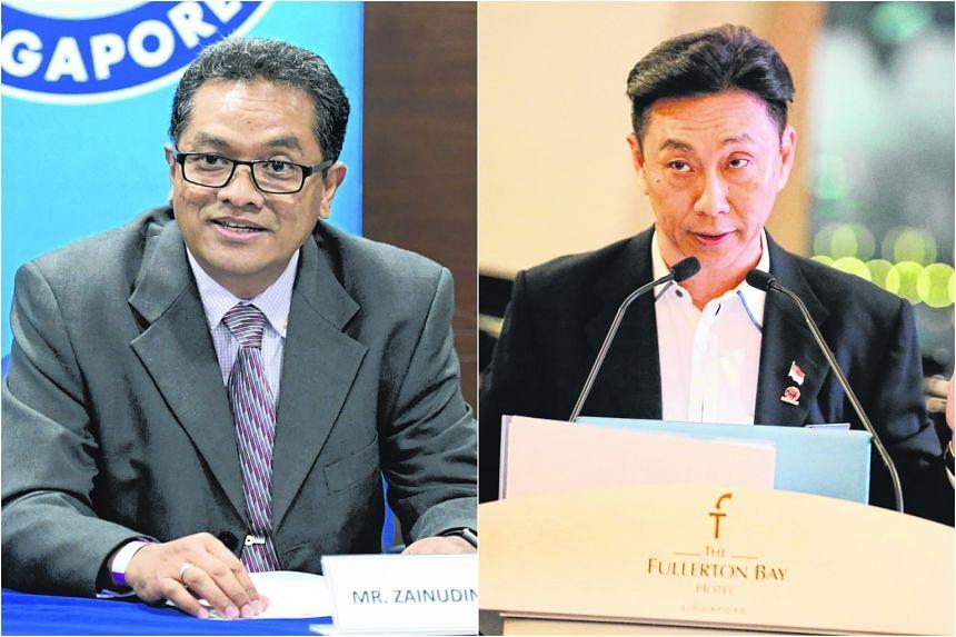 Mr Zainudin Nordin (left) and Mr Bill Ng.