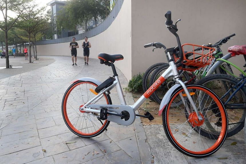 A bicycle from Mobike seen in Singapore.