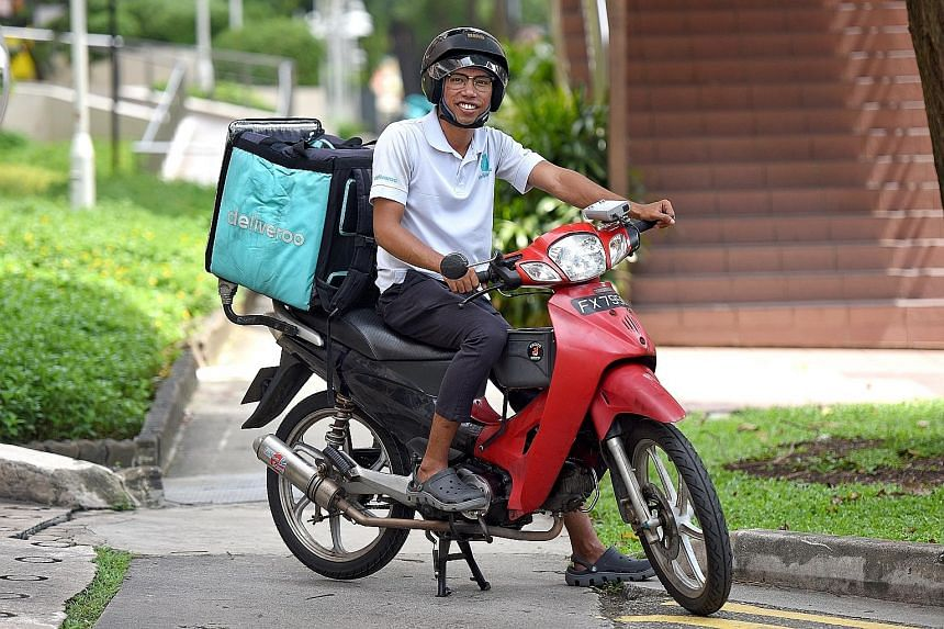 Dispatch rider Fitri Ismail, 23, wants to save $150,000 by the time he reaches his 40s so that he can start his own F&B and delivery business with friends. He worries about getting injured in an accident while on the road.