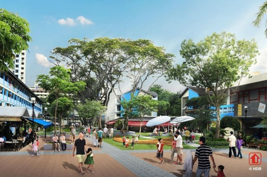 All five Neighbourhood Centres in Toa Payoh will be upgraded to include new multi-generational features such as play areas, resting pavilions and lush landscaping.