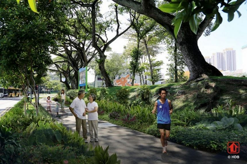 The 4-kilometre-long ring road will be enlivened with lush greenery, while providing a scenic route to walk and jog along.