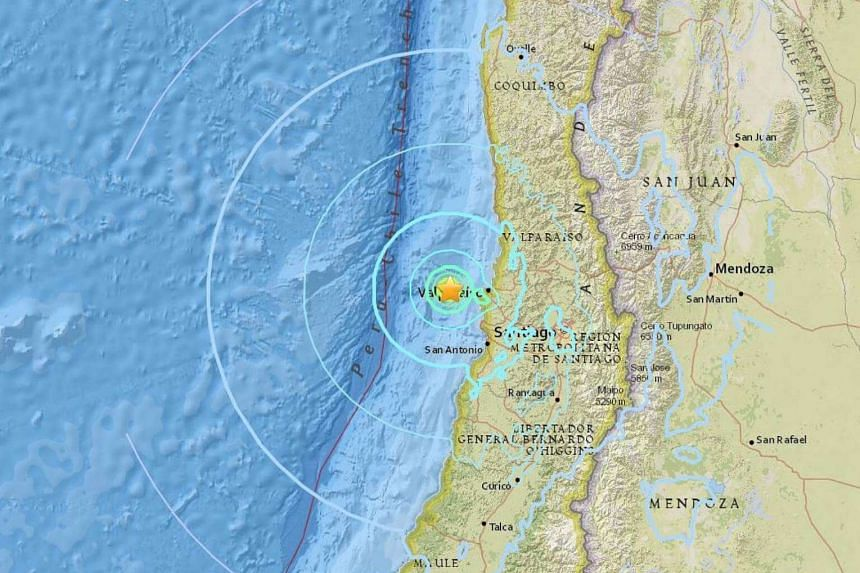 A magnitude 5.9 earthquake rocked central Chile late on Saturday (April 22).