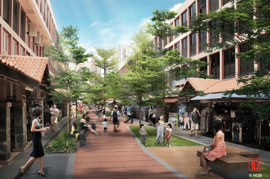 The revamped Pedestrian Mall will enable residents to rest, relax and interact with the community more comfortably.