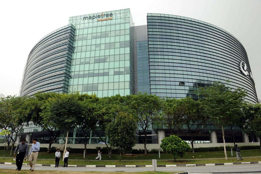 The Signature, an office building owned by Mapletree Industrial Trust, stands in Changi Business Park in Singapore, on Oct 21, 2010.