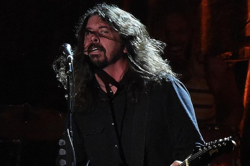 David Grohl of US rock band Foo Fighters. According to his mother in a new book, he was not interested in going to school.