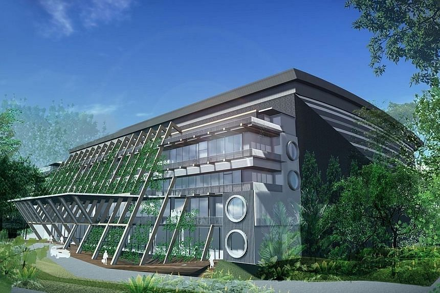 The new $107 million Technology Centre for Offshore and Marine Singapore, or Tcoms - which will feature a next-generation Deepwater Ocean Basin with simulation capabilities, including smart sensing and data analytics - is slated for completion in 201