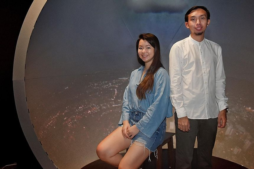 Final-year students Kylie Woon, 26, who is majoring in photography and digital imaging, and Kamarulzaman Mohamed Sapiee, 26, who is majoring in interactive media, feel that changes to the Bachelor of Fine Arts programmes would make graduates more mar