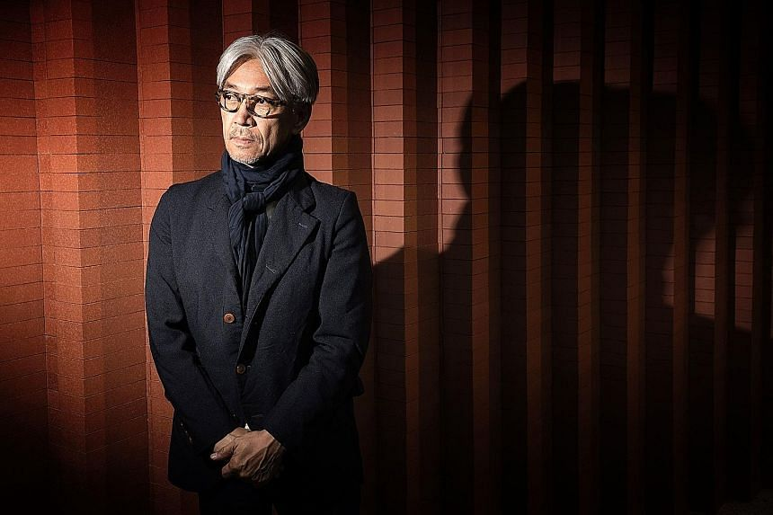 Async, the 16th solo album of Japanese musician Ryuichi Sakamoto (above), will be released next week.