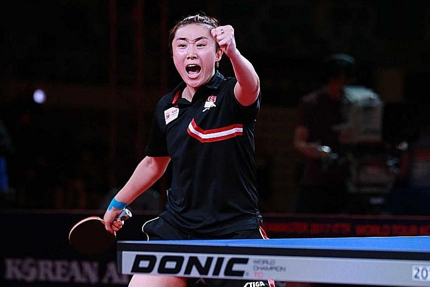 Feng Tianwei beat Japan's Kasumi Ishikawa 12-10, 6-11, 11-9, 5-11, 11-8, 11-9 yesterday to clinch her 10th ITTF singles title and increased her head-to-head record over Ishikawa to 10-5.
