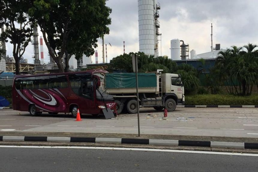 A 62-year-old man was killed and nine other people sent to hospital after an accident on Jurong Island on April 24, 2017.