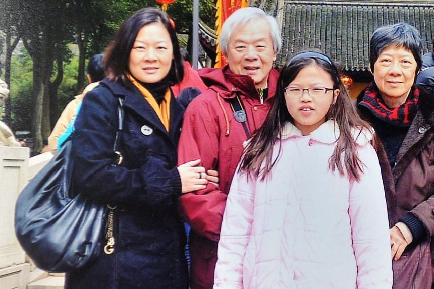 The late Madam Lee Boon Ngan (far right) on holiday in 2012 with her husband Chua Mia Tee, daughter Chua Yang (far left), and granddaughter Ernestine Chua