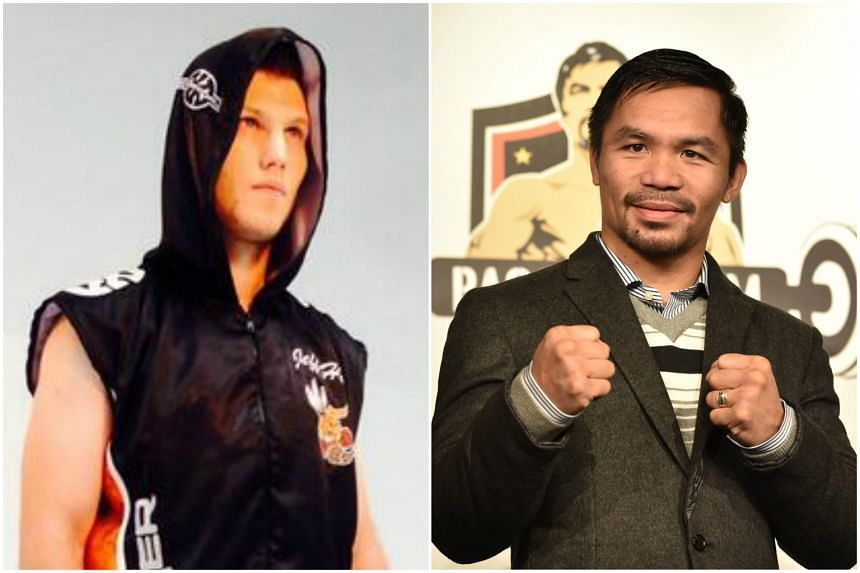 World champion Manny Pacquiao (right) will be fighting Australian Jeff Horn on July 2 at Lang Park.