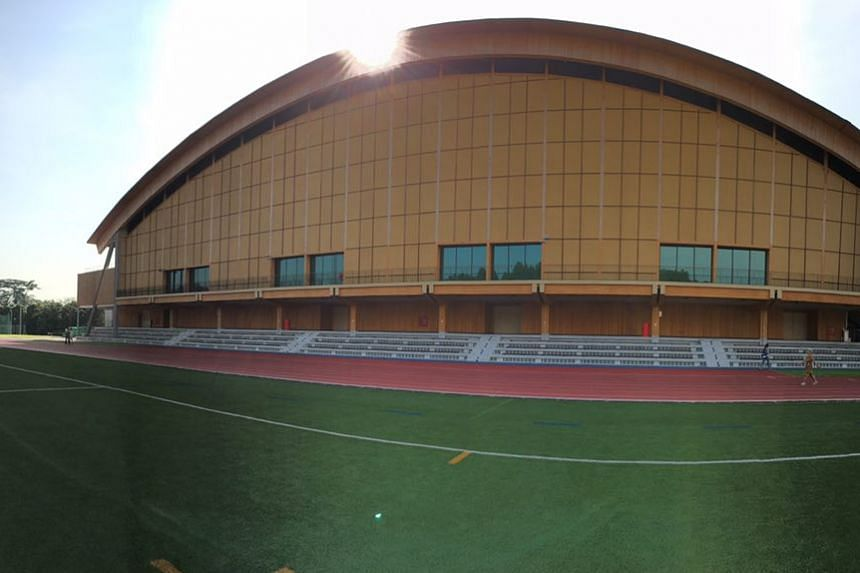 The new NTU sports hall, called The Wave, is the first large-scale building in South-east Asia with a structure built completely using mass-engineered timber.