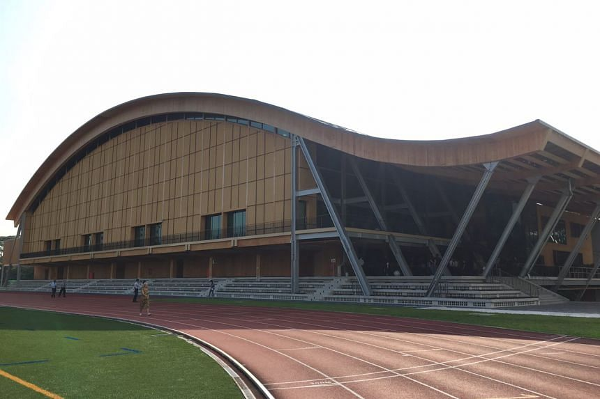 The building features a 72m roof made of seven timber arches.