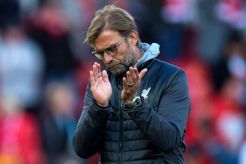 Liverpool Manager Juergen Klopp reacts after the loss to Crystal Palace on April 23, 2017.