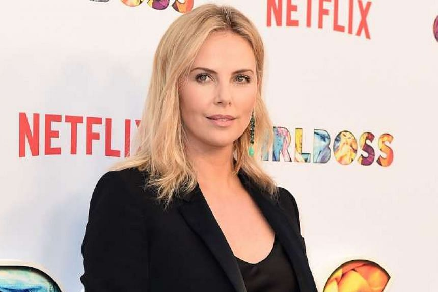 Female entrepreneur Sophia Amoruso co-produced Girlboss with screenwriter Kay Cannon and actress Charlize Theron (above).