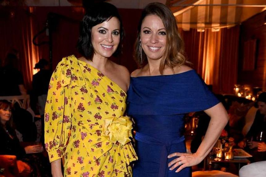 Female entrepreneur Sophia Amoruso (left) co-produced Girlboss with screenwriter Kay Cannon (right) and actress Charlize Theron.