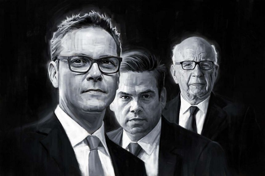 (From left) The Murdoch men at the helm – James, Lachlan and Rupert.